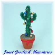 Dolls House Cactus for Christmas