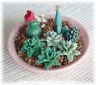 Avon Pottery Dish of Cacti for the Dolls House