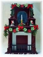 Dolls House Christmas Fireplace