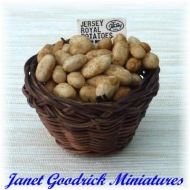 Large Basket of Jersey Potatoes