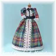 Dolls House Tartan Dress