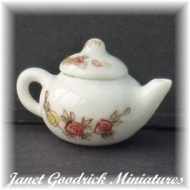 Dolls House China Teapot
