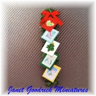 Dolls House Christmas Card Hanger