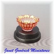 Glasscraft Cranberry Bowl