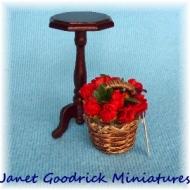 Dolls House Flower Basket