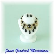 Dolls House Goth Jewellery Bust