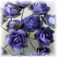 Bunch of Purple Cabbage Roses