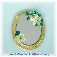 Dolls House Mirror with Holly