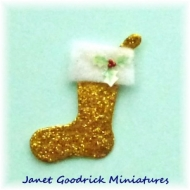 Diecut Christmas Stocking for the Dolls House.