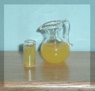 Dolls House Drinking Glass and Jug of Orange