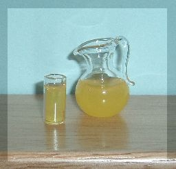 Dolls House Drinking Glass and Jug of Orange