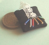 Miniature Lacemakers pillow