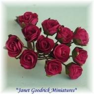 Miniature Paper Roses