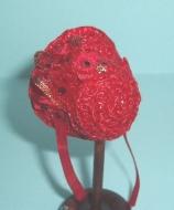 Red Straw Mini Bonnet